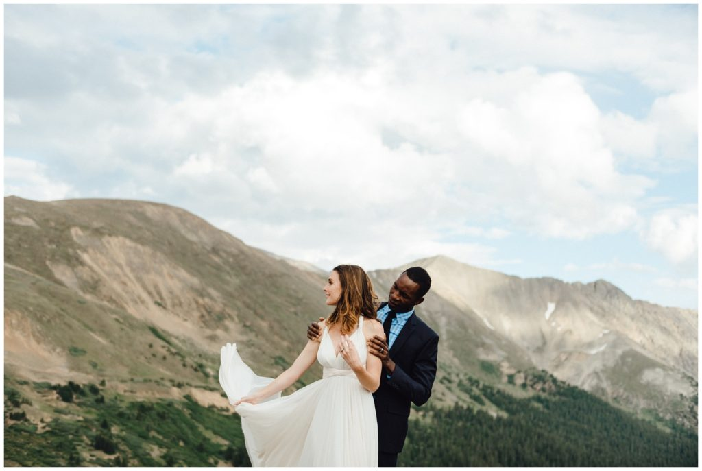 loveland pass elopement, colorado summer wedding, vail wedding photographer